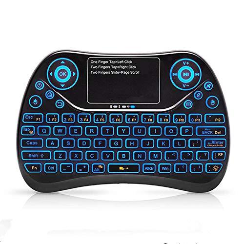 Dkings Drahtlose Mini-Handheld-Fernbedienung mit Touchpad Arbeiten Sie für Desktop, Laptop, Auto-TV, HTPC, Großbild-TV, Smart-TV, Festplatte, wiederaufladbare Fly Air-Maus 2,4 GHz Smart -