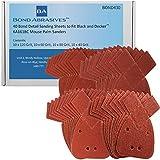 40Bond abrasivos detalle hojas de lija para negro y Decker KA161BC ratón lijadora todos los grados