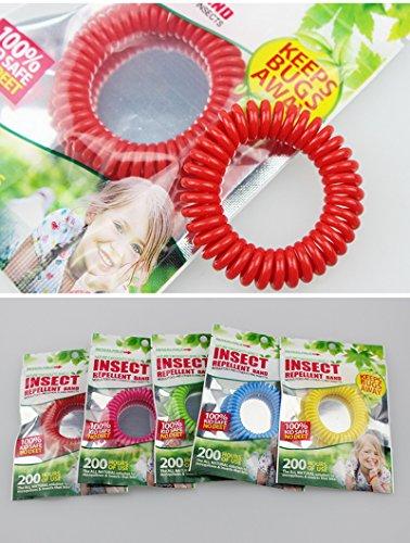 Imagen de tianu pulseras repelentes de mosquitos de silicona  keep mosquitoes away  bandas de muñeca para niños, bebés, adultos, hombres y mujeres 5 unidades/5 colores , verde alternativa