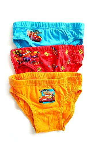 Preisvergleich Produktbild Unterhosen Disney CARS Set 3 Stück 110/116 Baumwolle Kinder Unterwäsche Slips