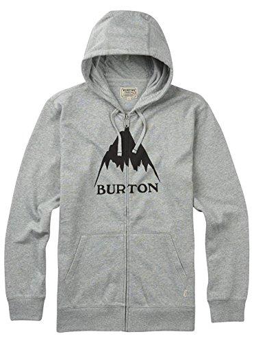 Burton Classic Mountain High Fullzip con cappuccio Grigio erica