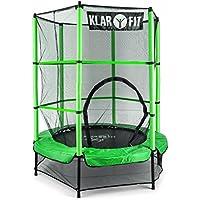Klarfit Rocketkid cama elástica infantil (140 cm de diámetro, red de seguridad, apta