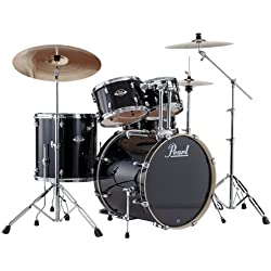 Pearl Export EXX725 Drum Kit with Cymbals - Jet Black