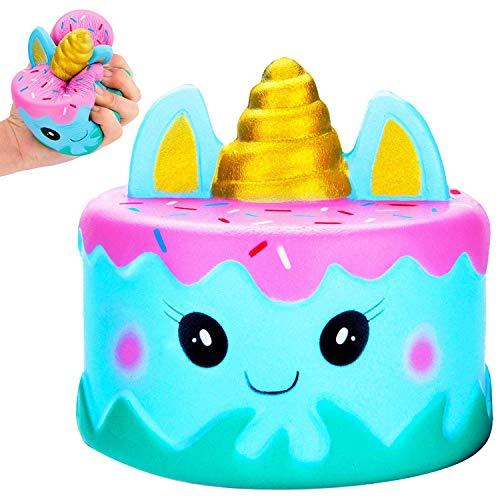 MiniMochi Jumbo Squishy Unicornio Kawaii, Squishy Tarta...