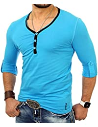 Tazzio - Tee shirt col liseré T-shirt TZ5054 turquoise - Bleu