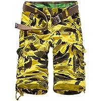 Uomini Camo Combattimento Camuffamento Pantaloni Di Scarsita Casuali Di Sport Complessivi Cargo Shorts Dell'Esercito