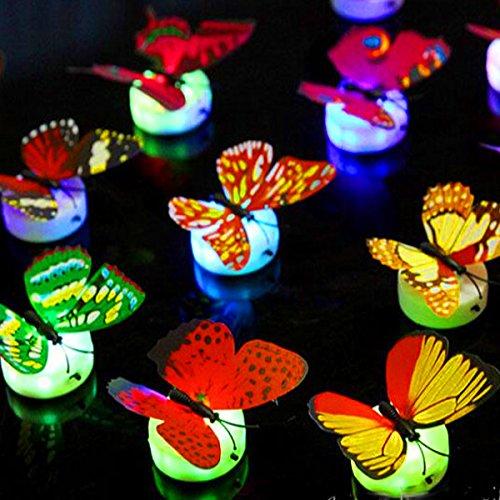 German Trendseller® - Schmetterling inkl. Beleuchtung ┃ LED Dekoration ┃ Ambiente ┃ - Für 2 Halloween-dekoration Jährige