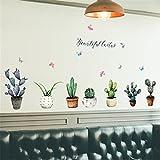 Aufkleber, GreatestPAK DIY Kaktus Removable Wandtattoo Familie Home Kunst Wohnkultur (Multicolor, 50 x 70 cm)