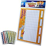 PACK OF 4 REWARD CHARTS WITH 225 STAR STICKERS. YELLOW AND BLUE. FOR REWARDING CHILDREN'S GOOD BEHAVIOUR RS048053