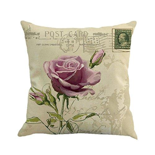 Hund-wurf-kissen (Dekorative Kissenbezug Hevoiok Rose Blumen Sofa Taille Wurf Kissenüberzug Sofakissen Abdeckungs Bett Kissenhülle 45 x 45 cm (E))