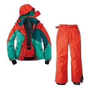 Skianzug 2tlg. Funktioneller Skianzug Für Damen Gr. 42 M-2 Farbe. Rot-Grün-Blau Schneeanzug Thinsulate Skijacke by Crivit