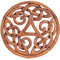 Wandschmuck Keltisches Triskel Alesia groß als Holzbild