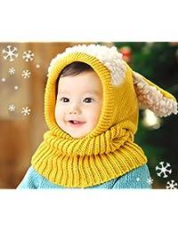 Xiaoyu bébé garçons hiver chapeau écharpe foulard de laine chapeaux écharpes  ... e0e73987f88