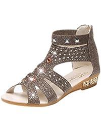❉Sandales Plates Femme Sandales Compensees Femme Chaussures Plates  Printemps Été Dames Femmes Wedge Sandales Mode 621f3cca94df