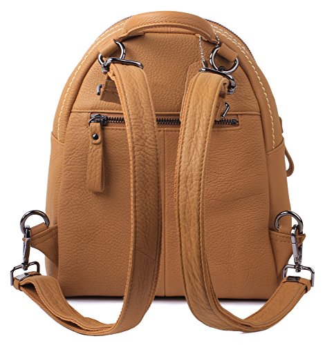 borgasets da donna Afra in pelle zainetto zaino piccolo, Orange (nero) - 6792389 Brown