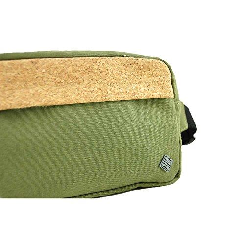 virblatt marsupio in sughero per l'uomo e per la donna borsa tracolla uomo con decorazione in sughero per un look unico come abbigliamento etnico - Gekorkt bl Verde
