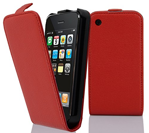 Cadorabo - Etui Housse Coque pour Apple iPhone 3G / 3GS en Flip Style - Case Cover Bumper Portefeuille en ROUGE CERISE