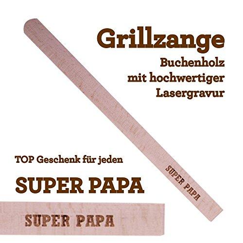 Grillzange Aus Holz Mit Hochwertiger Gravur Super Papa
