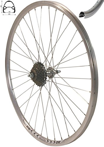 Exal Redondo 28 Zoll Laufrad Hinterrad inkl. 7 Fach Shimano Schraubkranz Felge Alu Rad Fahrrad