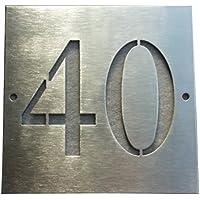 Mosaici Guizzo número de Acero con Agujeros Perforados Dos dígitos 20X 20cm