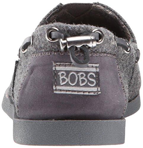 Bobs Da Skechers peluche Moda Slip-On piano Charcoal Wool