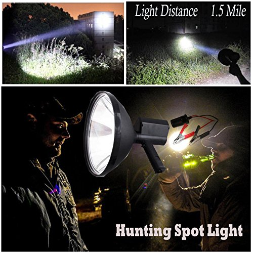 100 W 22,9 cm Jagd Spot Handheld HID Xenon Driving Lampe Camping Searchlight 6000 K 1,5 Mile Leuchtweite Hid-handheld