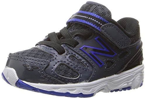New Balance KA680 Youth Running Shoe (Little Kid/Big Kid) Grey/Blue/Black