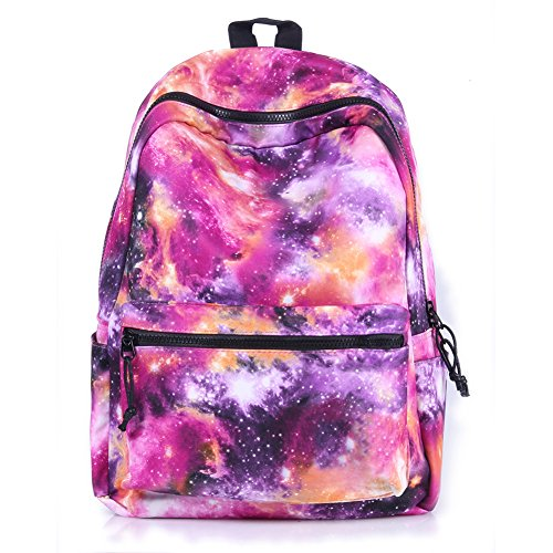 TOPFIRE Galaxy Sac à Dos Cartable Teenager Adultes Homme Sac à Dos D'ecole Loisir Sac à Dos Fille Unisexe Enfants - Rose
