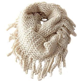 Wowlife Unisex Baby Kids Toddler Boys Girls Warmer Fall Winter Thick Knit Wool Soft Infinity Scarf Neck Long Scarf Shawl (Beige)