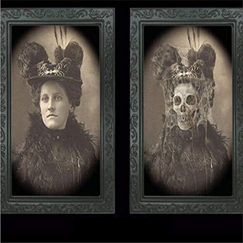 YCRD 3D People Ghost Face Photo Frame Halloween Geschenk Geburtstags Party Halloween Ghost Craft Haunted House Bar Dekoration,I