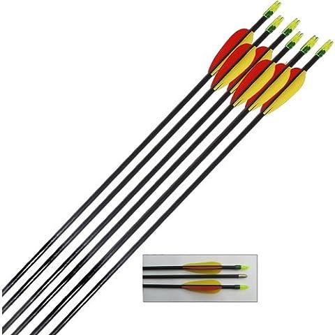 Archery Fibreglass Arrows set of 12x28