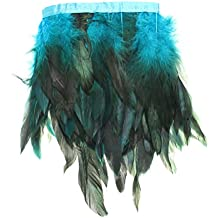 KING DO WAY - Plumas decorativas (DIY, 8 colores, gallina) azul