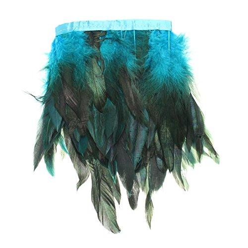 KING DO WAY 100 Stück Hahnenfedern Flügelfedern Hahn Federn Pad Feather Schmuckfeder DIY 8 Farbe blau