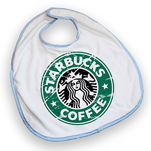 Bavoir bleu Starbucks Coffee Destroy - Fabriqué en France - Chamalow Shop
