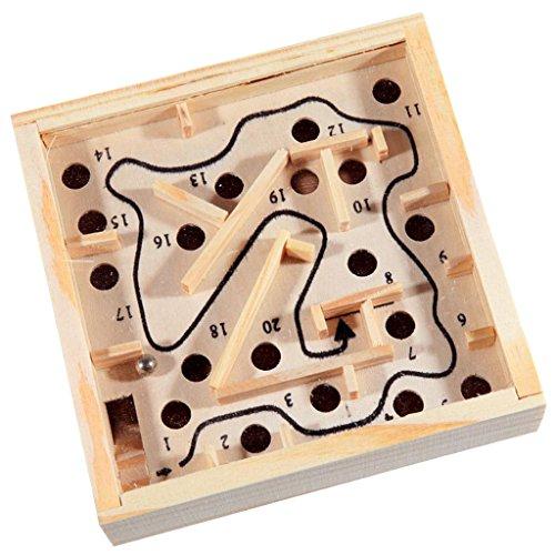 (Sharplace Kinder Holzspielzueg - Holz Labyrinth Puzzle - Balance Board Perle Labyrinth Brettspiel - Kinder Pädagogisches Spielzeug)