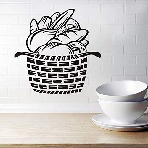 Brot In Den Korb Wandaufkleber Ausgangsdekor Aufkleber Für Kinderzimmer Tv Küche Fliesen Vinyl Dekorative Aufkleber 44X44cm