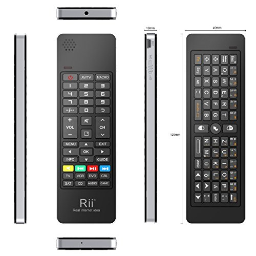 Rii mini i13 Tastatur (Deutsch, QWERTZ) mit Wireless-Fly Air Maus