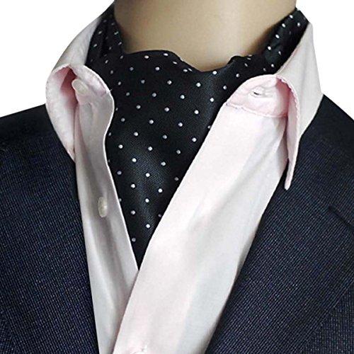 Panegy - Nouveauté Mouchoir Foulard Cravate Fine à Pois/Rayures Hommes - Cravate Elegante Pour Costume Mariage Cérémonie Chemise soirée