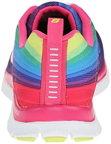 Skechers Flex Appeal Pretty Please, Fitness femme Rose (Fuchsia/Multi)