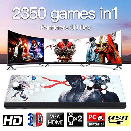 Pandora's Box 3D Home Arcade Konsole, Doppelstock 1080P Retro-Videospiele Doppelstock TV-Spielekonsolen, 2388 Klassische Spiele in 1 Arcade, Modell BZ06