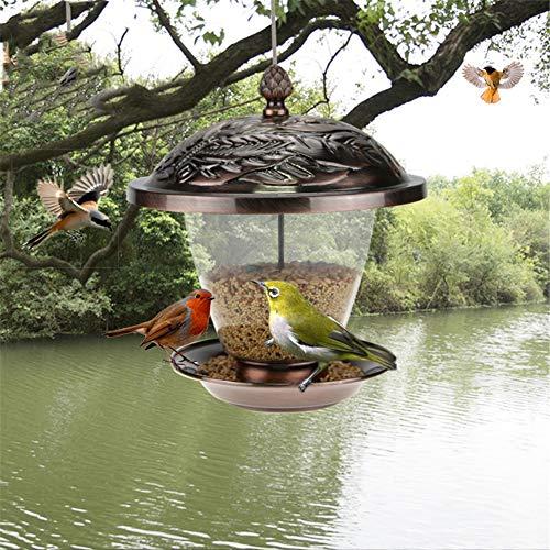 QINAIDI Vogelfutterautomat, Vogelfutter-Sonnenblumensamenbehälter, für den Garten im Innen- und Außenbereich -
