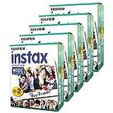 Fujifilm Instax Wide Set mit 5 Boxen à 20 Rollen (100 Großformatbilder) für Fuji Instax 210 200 100 100 300 Sofortbildkamera