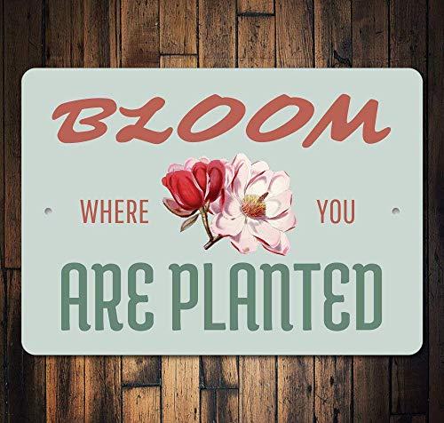 Garden Club Teller (JIA KOAH Bloom Where You Are Planted Garden Cute Flower Blechschild Metall dekorative Wand Poster Souvenir)
