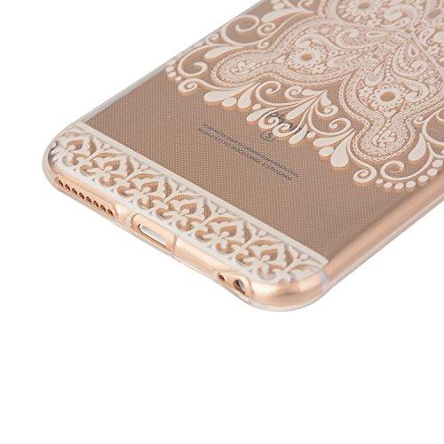 SpiritSun Beliebte Muster Hülle für Apple iPhone SE / 5 / 5S TPU Silikon Bumper Schutzhülle Weich Transparent Handyhülle Tasche Schlank Extrem Dünne Schale Leichtgewicht Anti-stoß Abdeckung mit Stylus Weiß Schmetterling
