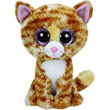 TY - Peluche gato, 15 cm, color beige (United Labels 36129TY)