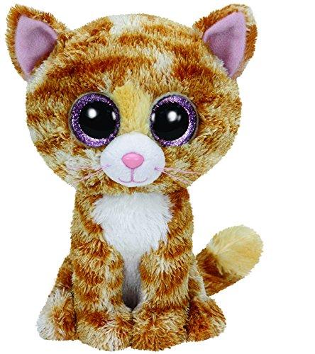 TY 36129 - Tabitha - gescheckte Katze mit Glitzeraugen, Glubschi's, Beanie Boo's, 15 cm (Beanie Boo Für Jungen)