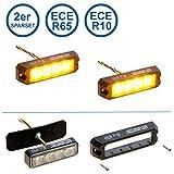 2er Sparset LED-MARTIN R65 PROFLASH gelb - Frontblitzer - Straßenräumer -Blitzmodul - Pannendienst - Schwertransport - LKW