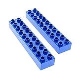 2 x Lego Duplo Basic Bau Stein blau 2x10 für Set 9130 3772 9163 2670 2291