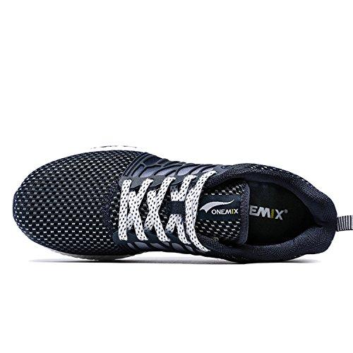 Onemix Maglia Scarpe da Ginnastica Basse Sportive Outdoor Tennis Running Sneakers Donna Uomo Unisex Adulto Dark Blue