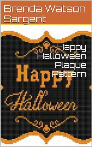 Happy Halloween Plaque Pattern (English Edition)